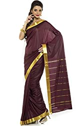 BANGALORE DUPIAN AND FLORAL SILK SAREE COLLECTIONS-Brown-POSB1243-VN-Art Silk Silk-Brown-POSB1243-VN-Art Silk Silk