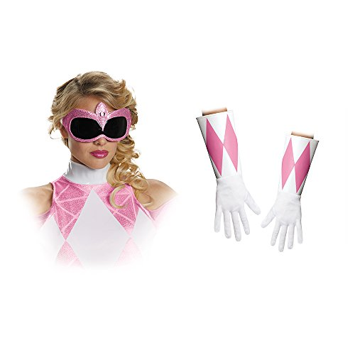 Disguise Women's Pink Ranger Adult Costume Accessory Kit, Pink, One Size (Ranger Adult Accessory Kit)