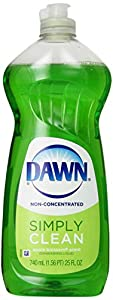 Dawn Non-Ultra Apple Blossom Scent Dishwashing Liquid 25 Fluid Ounce (Pack of 5)