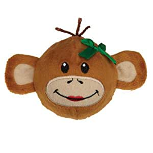 Zanies Holiday Monkey Business Squeaker Ball Tiff Pet Toy