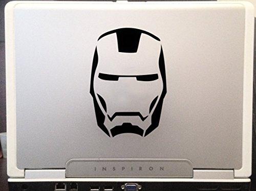 Iron man mask Avengers Marvel superhero Hulk Captain America car truck SUV window laptop Kitchen wall macbook decal sticker Approx 4 inches black