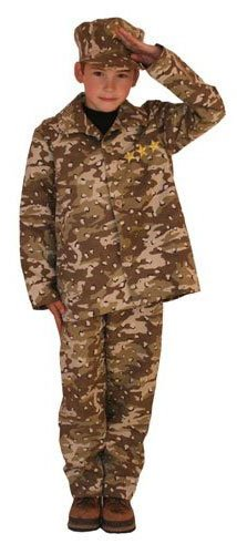 Kids Soldier Camouflage Costume