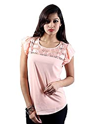 Envy Women's Blended Round Neck Tops (03808PINKNA, Pink, Free Size)