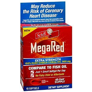 Schiff Megared Extra Strength 100% Pure Omega-3 Krill Oil, 500Mg, Softgels 45 Ea