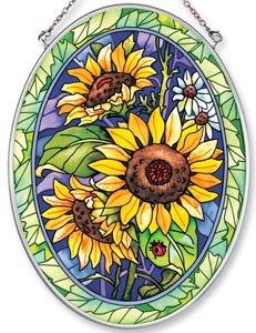 Amazon.com - Amia Hand Painted Glass Suncatcher with Sunflower Design