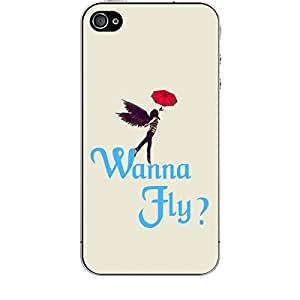 Skin4gadgets WANNA FLY? Phone Skin for APPLE IPHONE 4
