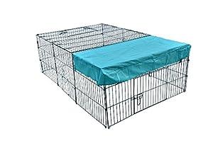"""Dog Cat 72"""" x 48"""" Pet Playpen w/Door & Cover Rabbit Enclosure"""