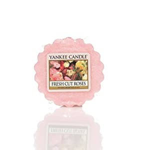 Yankee Candle Wax Tart (Fresh Cut Roses) - Box of 24 Pieces by 5-15 Hours