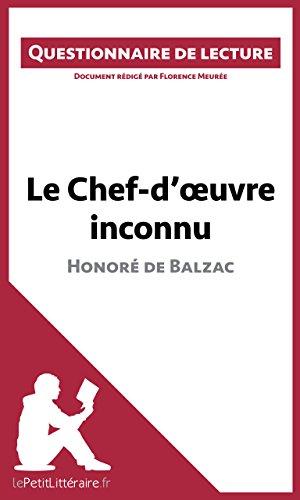 Florence Meurée - Le Chef-d'oeuvre inconnu de Balzac: Questionnaire de lecture (French Edition)