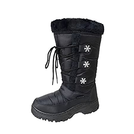 Stay warm in these fabulous water resistant winter snow boots fully lined with fleece.