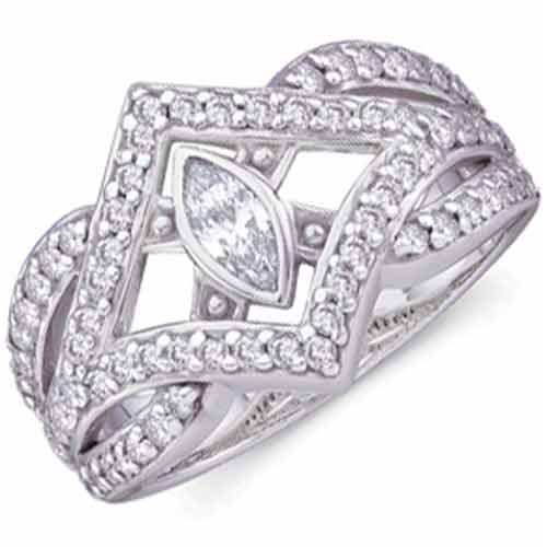 Set the standard for sophistication with this vintage diamond right hand