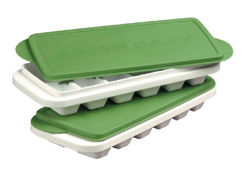 Fresh Baby So Easy Baby Food Freezer Trays With Lids 2 Set Pack of 2