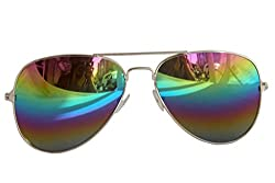 Derry Men Sunglass Aviator style Royal Multi Color shade In Mirror lens (Goggles