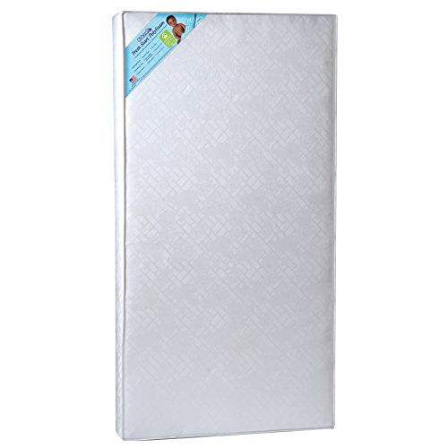 Kolcraft Fresh Start Poly-Foam Crib Mattress, White Windsor - 1