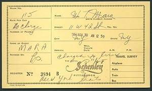 WELLINGTON MARA NEW YORK GIANTS Signed Hotel Schenley Registration Card PSA DNA -... by Sports Memorabilia