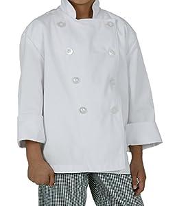 Chef Works CWBJ-WHT Kid's Chef Coat, White, Medium