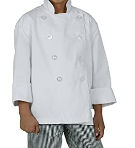 Chef Works CWBJ-WHT Kid's Chef Coat, White, Medium