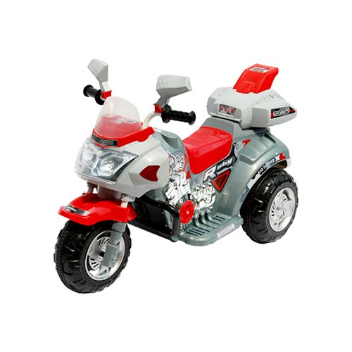 Lil' Rider Ruby Racer 3-Wheeler Motorcycle, Silver/Red front-675124