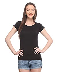 Wearsense Women's Top (Black, Medium)