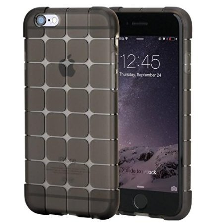 Casecart Magic Cube Shockproof Transparent TPU Protective Case Cove for Apple iPhone 6 6S - BLACK