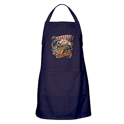 Apron (Dark) Marines Semper Fi Devil Dog Smoking