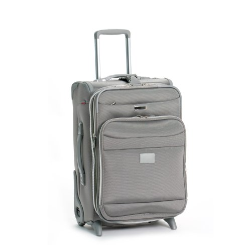 Delsey Luggage Helium Pilot 2.0 Lightweight Carry On 2 Wheel Rolling Suiter Upright, Platinum, 21 Inch best deal