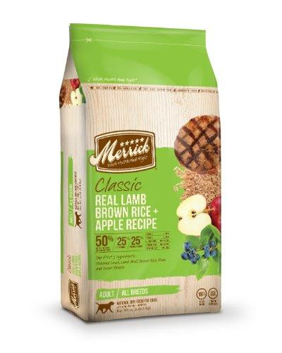 Merrick Classic 15-Pound Adult Real Lamb, Brown Rice And Apples Dog Food, 1 Bag