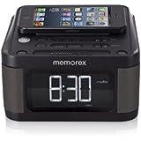 Memorex Universal Charging Alarm Clock with FM radio, Black