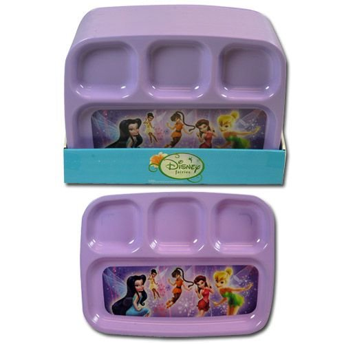 Disney Fairies Tinkerbell 4 Section Divided Platter Plate