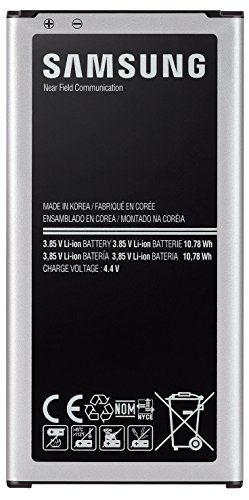 Samsung Official Genuine 2800mAh OEM Battery for Galaxy S5 without Warranty - Non-Retail Packaging - Black/Silver