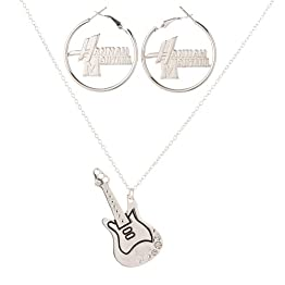 Hannah Montana Guitar Pendant and Earrings Set