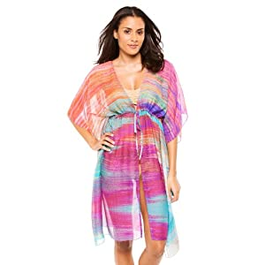 Echo Women's Wovens Tunic Swim Cover Up Multi One