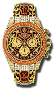 Rolex Daytona Leopard Dial Automatic 18K Yellow Gold Leopard Skin Style Mens Watch 116598 from Rolex