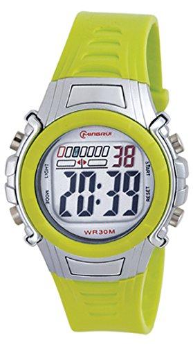 8Years- 1 Stueck Gruen Kinder Laessig Digitaluhr Armbanduhr Sportuhr Stoppuhr Wasserdicht