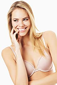 Underwired Lace Trim T-Shirt Plunge A-DD Bra with Modal