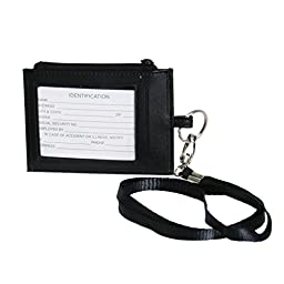 Royce Leather Lanyard (Black)