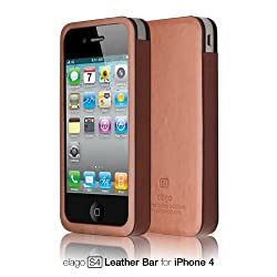 elago S4 Handmade Genuine Leather for iPhone 4/4S - Bar type + HD Professional screen film included