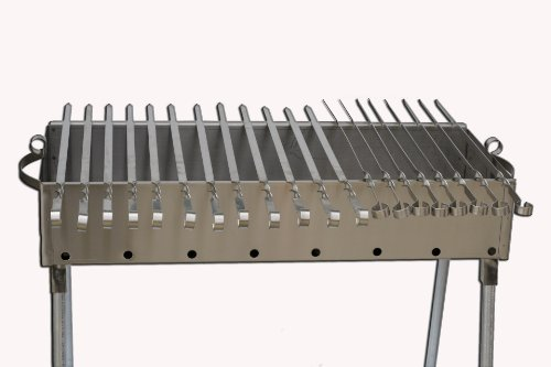 Stainless Steel Charcoal Grill Kebab BBQ 9X30