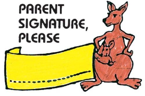 "Center Enterprise CE418 ""PARENT SIGNATURE KANGAS"" Stamp"