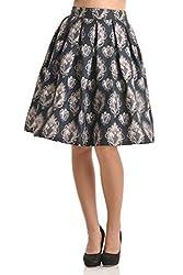 Kazo Women's Frills Skirt (112711BLACKL)