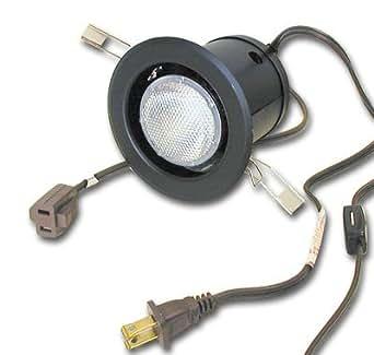 50w halogen light clip mount with flange switch. Black Bedroom Furniture Sets. Home Design Ideas