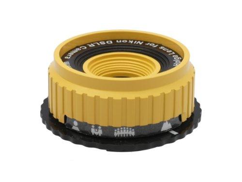 Holga Objektiv für Nikon D300 D200 D100 D90, D80, D70s, D70, gelb 0,5 X Weitwinkel