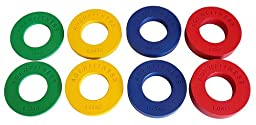 Fractional Olympic Plates 1/4,1/2,/3/4,1.0Kgs (.55, 1.1, 1.65, 2.2LBs)4 Pairs