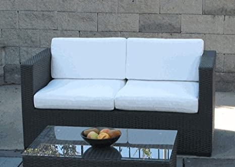 Modern Wicker Loveseat