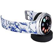Samsung Gear S2 Band Getwow Samsung Smartwatch Replacement Band For Samsung Gear S2 Smart Watch SM-R720 Black-... - B01E3J9RLG