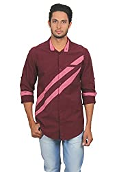 Rapphael Men's Full sleeve Casual Shirt -RED