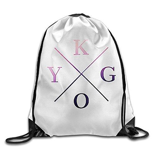 canace-kygo-logo-deportes-al-aire-libre-cordon-bolsas-mochila-blanco-talla-unica