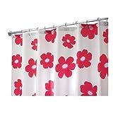 InterDesign Poppy Shower Curtain, Red, 72-Inch by 72-Inch
