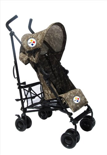 Pittsburgh Steelers Camouflage Umbrella Stroller front-31423