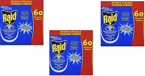 IRPot - 300 PIASTRINE ANTI ZANZARE INSETTICIDA RAID 5 CONF.